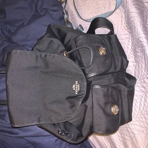 Black coach back pack